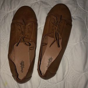 Brown Oxford flats
